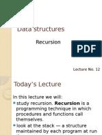 Lecture 12 Recursion