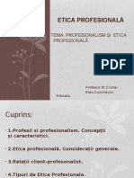 Profesionalism si Etica Profesionala