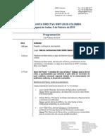 Agenda Evento 9 de Febrero 2014 -Cartagena de Indias Ene 28