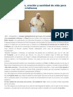 Palabras en Ecuentro Ecuménico 25-1-15 Conversión, Oración y Santidad de Vida Para La Unidad de Los Cristianos