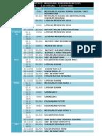 Jadual Aktiviti Mingguan Kokurikulum 2015