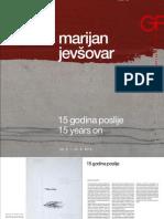Katalog Marijan Jevšovar - 15 godina poslje
