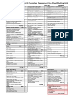 unit 2 controlled assessment one sheet marking grid