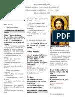 Modelo de Folheto Para Missa
