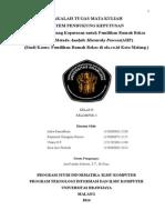 Sistem Pendukung Keputusan untuk Pemilihan Rumah Bekas dengan Metode Analytic Hierarchy Process(AHP)