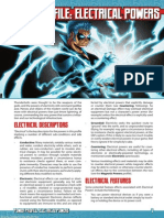 Mutants & Masterminds Power Profile 7 Electrical Powers