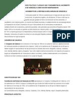 Analizar Las Principales Bases Politicas y Legales Que Fundamentan El Nacimiento de La Republica Bolivariana de Venezuela Como Nación Independiente