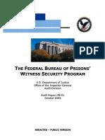 Federal BOP Witness Protection Program