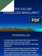 Etika Dalam Teknologi Maklumat