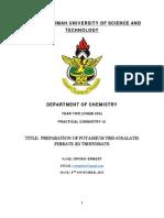 Preparationofpotassiumtrisoxalateferrateiitrihydrate 140328134711 Phpapp02 (1)