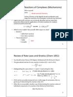 2011Notes Chemistry 3211 Pt5 ReactionMechanisms