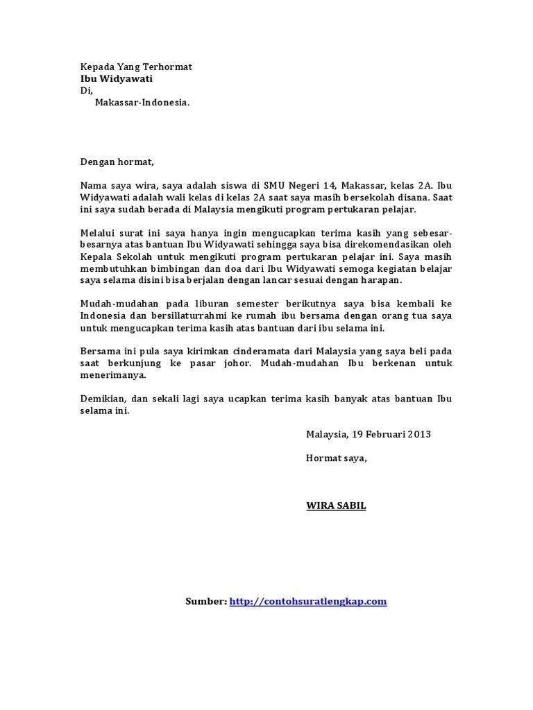 Contoh Surat Pribadi Untuk Teman Singkat Nusagates