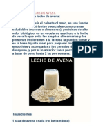 Dieta de La Leche de Avena