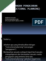 Rancangan Pengajaran (Instructional Planning)