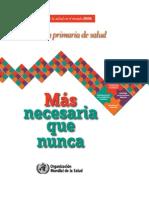 Informe Sobre La Salud en El Mundo 2008