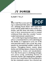Soft Power by Joseph S Nye