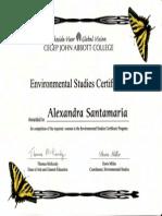 environmental studies certificate