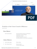 Portfolios of the Union Council of Ministers _ Prime Minister of India