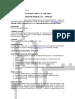 Edital Mestrado SP Turma 2015 -