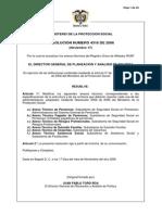 Resolución 4316 de 2006