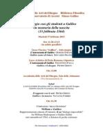Omaggio con gli studenti a Galileo in memoria della nascita