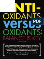 """ANTI-OXIDANTS VERSUS OXIDANTS"