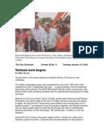The City Chronicle - 20100119 Wetland Work Begins