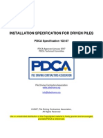 Installation Specification for Driven Piles