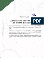 Costos Unitarios en Obras de Edificacion - Anuario