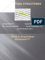 Acquisition Structures bh