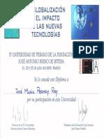 2000_06_21 Diploma Participación IV Universidad de Verano Fundación José Antonio