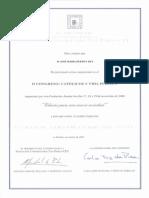 2000_11_19 Certificado de Comunicación II Congreso Católicos y Vida Pública. Educar Para Una Nueva Sociedad.