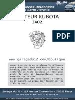 Despieces Motor Kubota Z402-Aixam-2