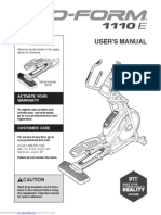 1110 e Elliptical Manual