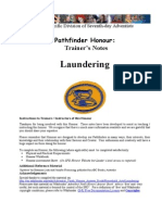 Laundering Honour Trainer s Notes