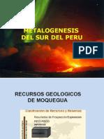Metalogenesis Del Sur Del Peru
