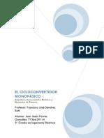 Trabajo Accionamientos.cicloconvertidor Monofásico