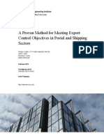 A Proven Method for Meeting Export Control Objectives in Postal and Shipping Sectors