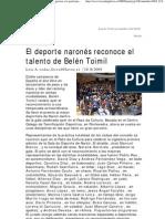 Gala del Deporte de Narón 2009 (La Voz de Galicia)