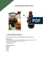 2. Recetas de FONDUE de CHOCOLATE Para Las Fuentes