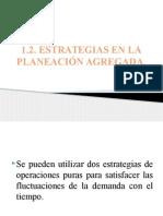 1.2 y 1.4 Estrategias en La Planeación Agregada