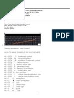 Keyboard Symbols