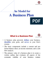 A Model for Business Plan