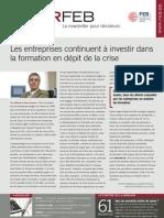 Les entreprises continuent à investir dans la formation en dépit de la crise, Infor FEB 3, 22 janvier 2010