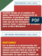 Informe Misionero Cali 2014
