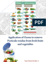 Application of ozone for removal of pesticide residues from fruits & Vegetables