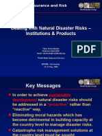 2.Dealing With Natural Disaster Risks – Institutions & Products