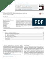 Metabolomics and TCM