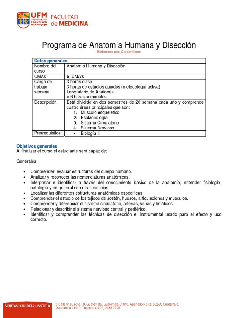 Anatomía Humana I