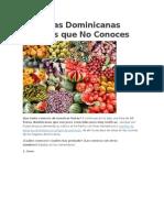 10 Frutas Dominicanas Exóticas Que No Conoces